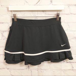Nike Dri-Fit black and white tennis skirt